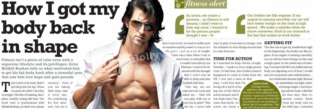 How I got my body back in shape: Hrithik Roshan
