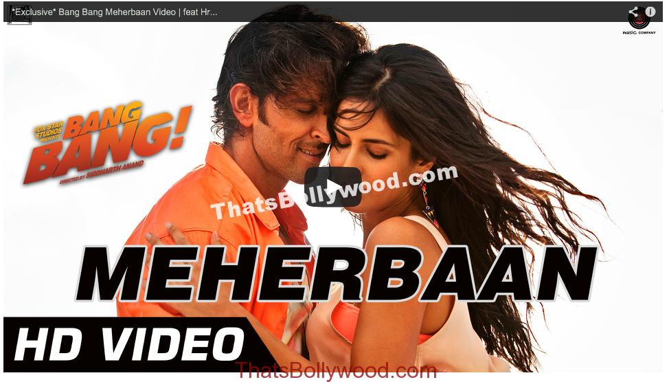 Bang Bang Meherbaan Video feat Hrithik Roshan & Katrina Kaif