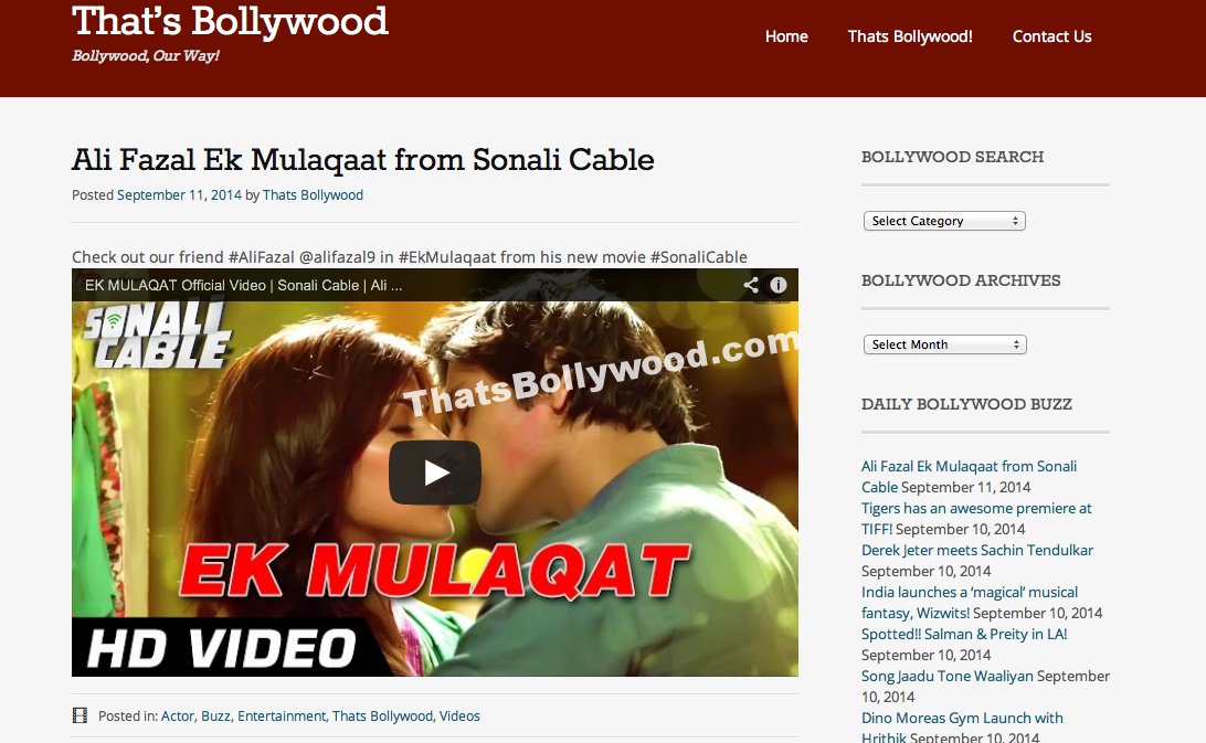 Ali Fazal Ek Mulaqaat‬ from ‎Sonali Cable‬
