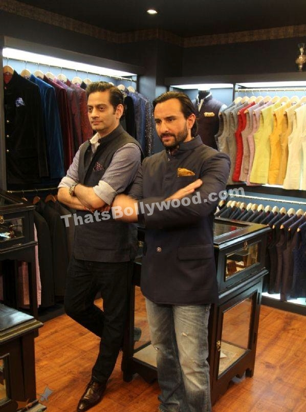 Saif Ali Khan Inaugurates Raghavendra Rathore's Clothesline - That's Bollywood