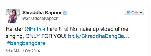 Shraddha Kapoor Bang Bang Dare - ThatsBollywood.com