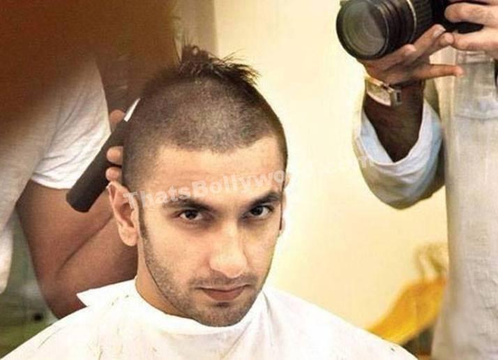 Actor Ranveer Singh's bald look for Bajirao Mastani