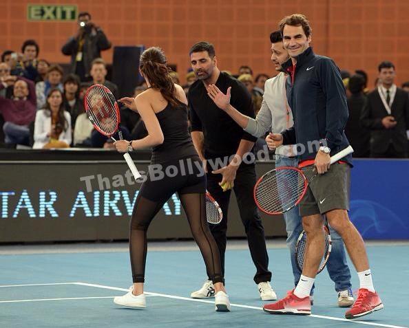 Bollywood meets Roger Federer
