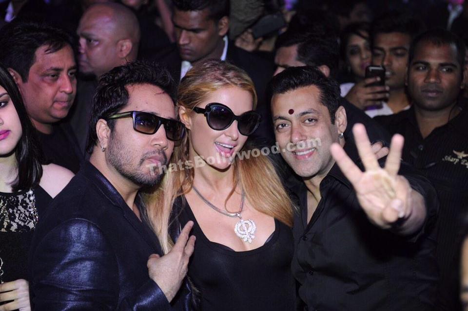 Paris Hilton with Salman Khan