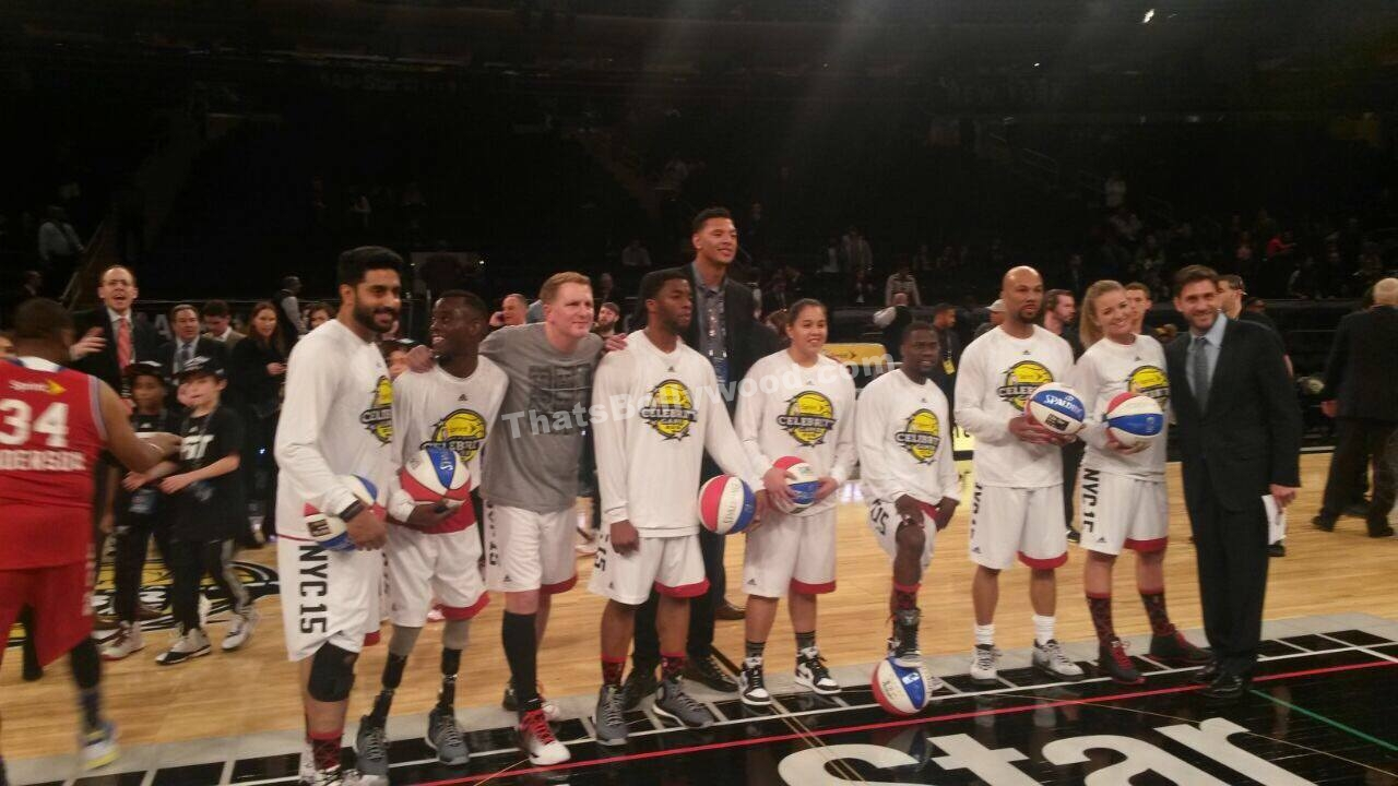 AB the the All Star Celebrity Basketball game in NY