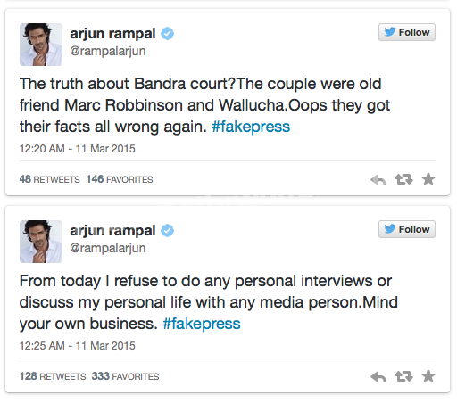 Arjun Rampal loses his cool on Twitter