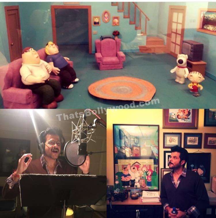 Anil Kapoor on set for Family Guy