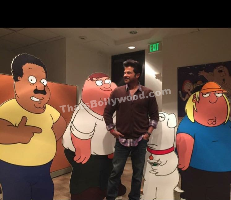 Anil Kapoor on set for Family Guy