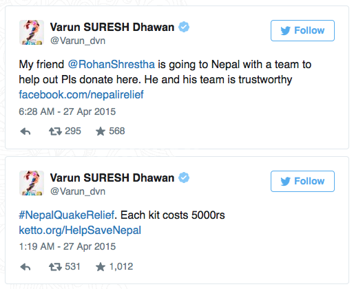 Bollywood joins forces for Nepal Earthquake Relief