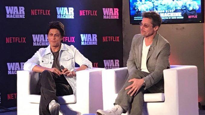 Brad Pitt and Shah Rukh Khan